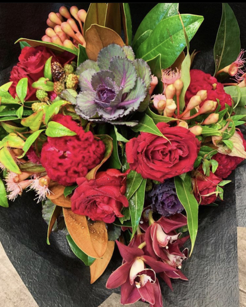 Natural Posy - Red/Purple Tones